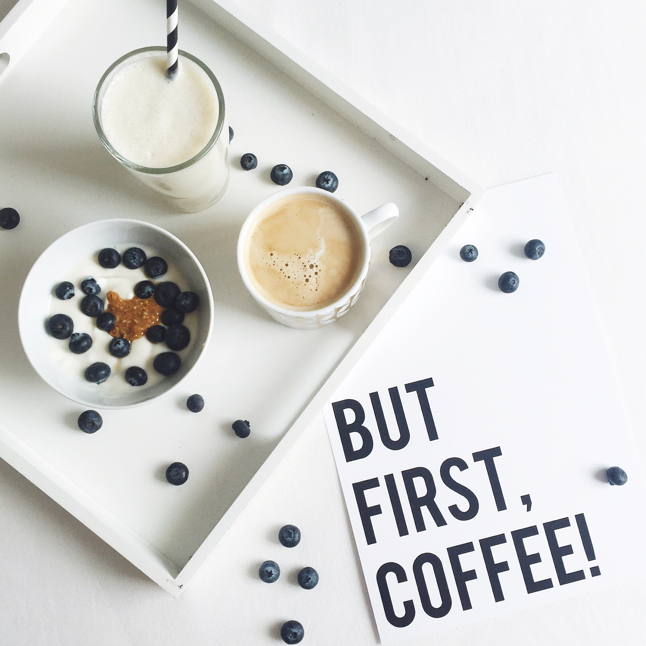 But first coffee Projekt Stil Postkarte Poster Print Adventskalender